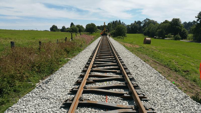Výstavba kolejových svršku Hans Wendel- Praha
